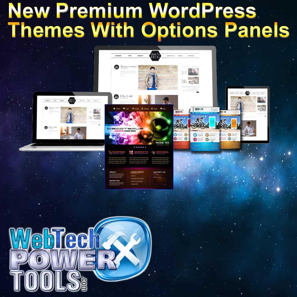 New Premium WordPress Themes with Options Panels