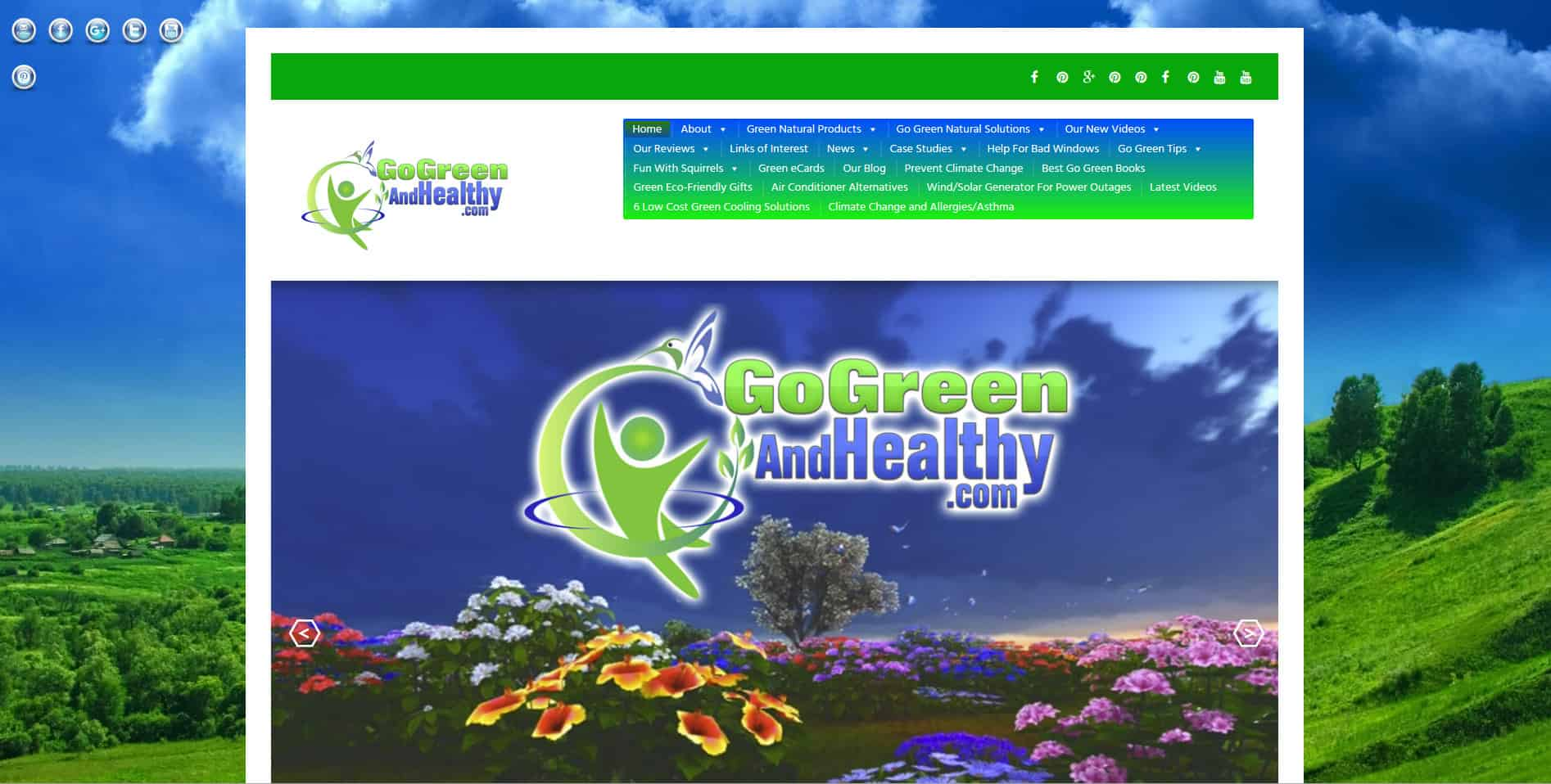 Parallels theme applied to go green site