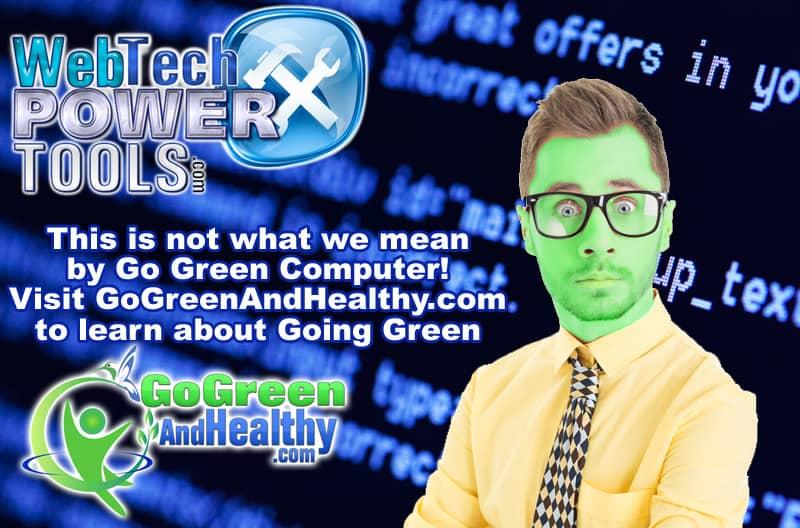 Go Green Computer Nerd eCard