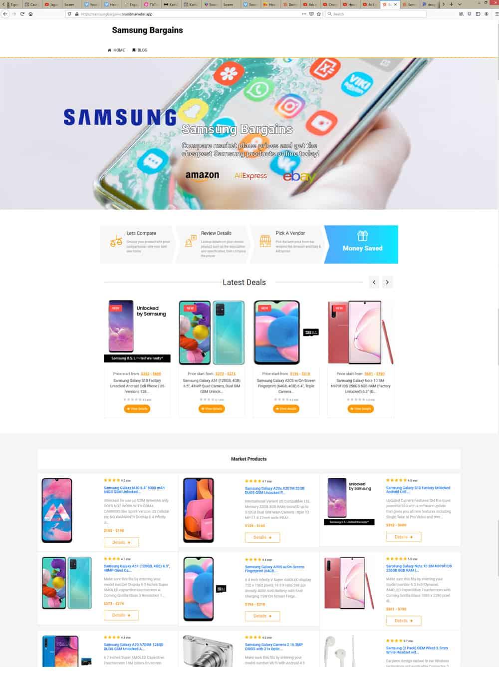 Brand Markete Samsung site