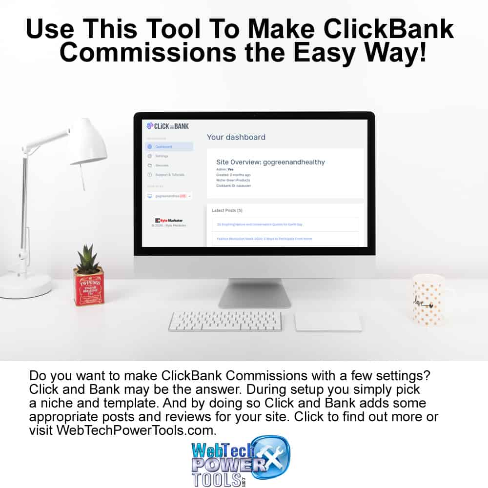 Click and Bank - Make ClickBank Commissions the Easy Way