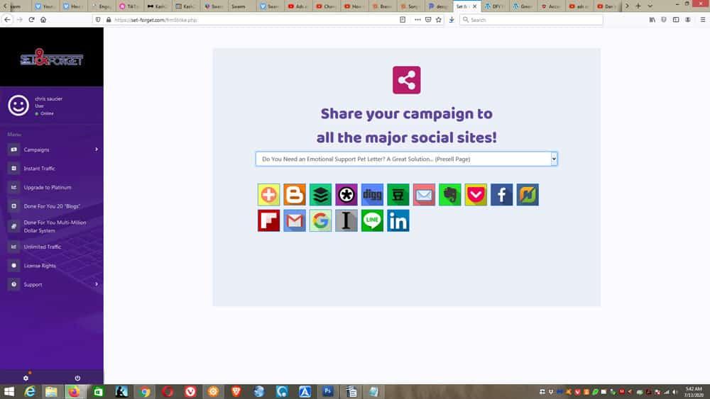Set & Forget social media promotion